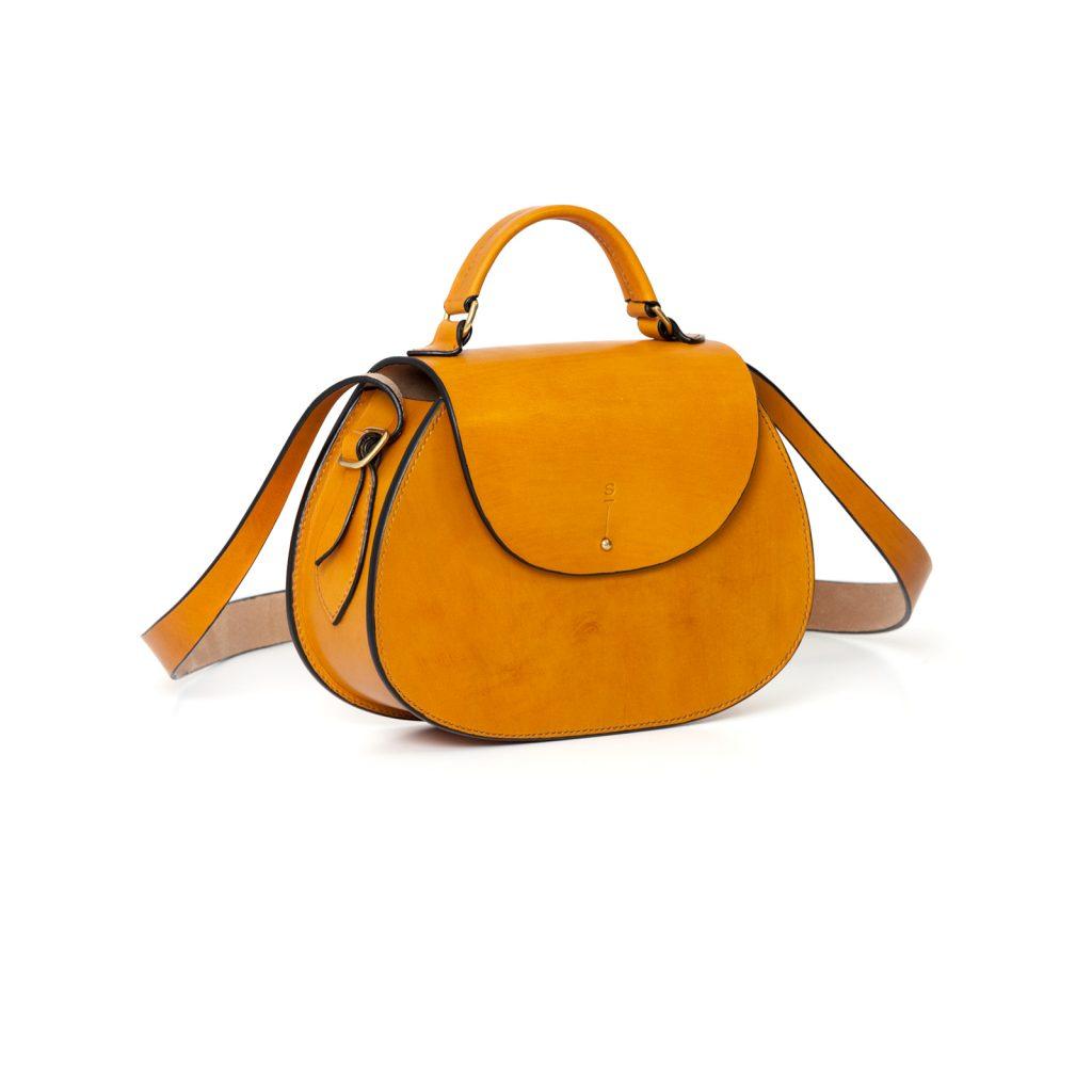 Medium Tan Abigail cross body bag luxury handcrafted english bridle leather goods