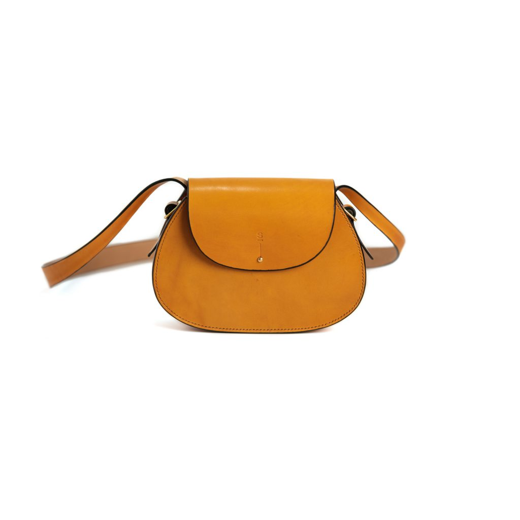 Small Tan Abigail cross body bag luxury handcrafted english bridle leather goods