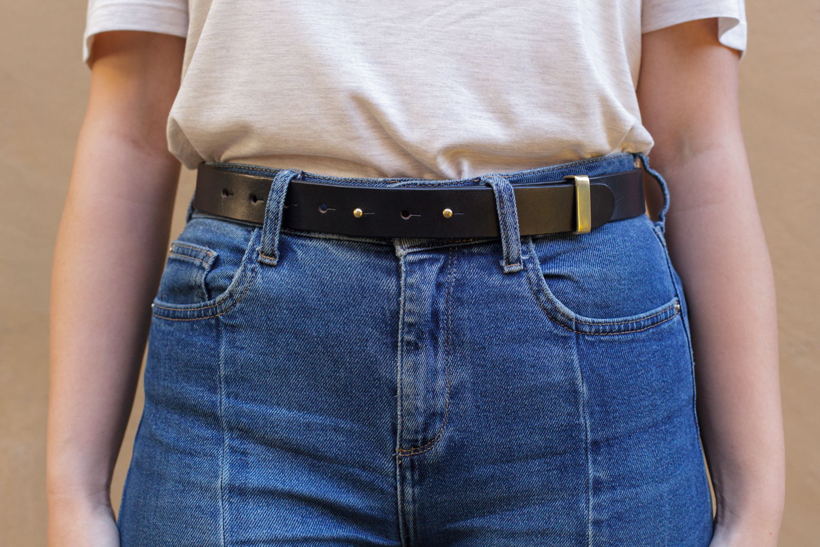 Hand crafted hand stitched dark stain dark brown english bridle leather belt with solid brass swagehead english buckle, luxury goods heirloom